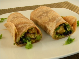 Vegan Chicken Wrap with Avocado
